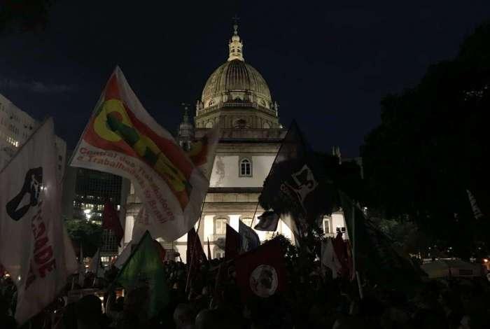 Manifestantes pró-Lula se reúnem no Centro do Rio