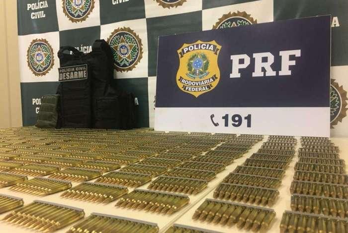Polícia apreende munição