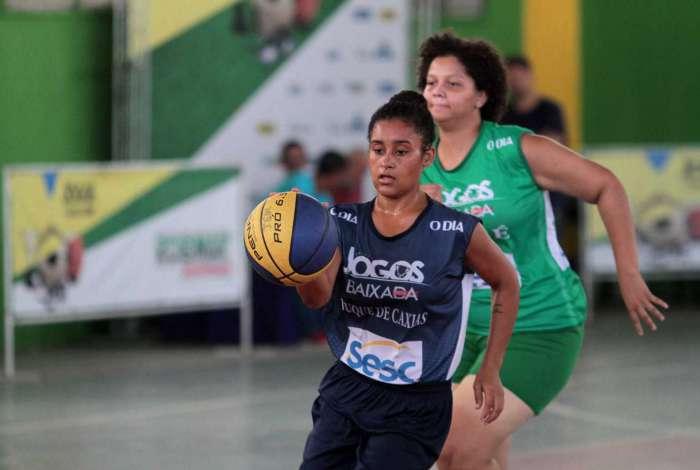 2018-04-07 - Caderno Baixada. Jogos da Baixada. Semi Final Sub 17 de Basquete feminino. Duque de Caxias e Mag�. Foto: Fernanda Dias / Ag�ncia O Dia.