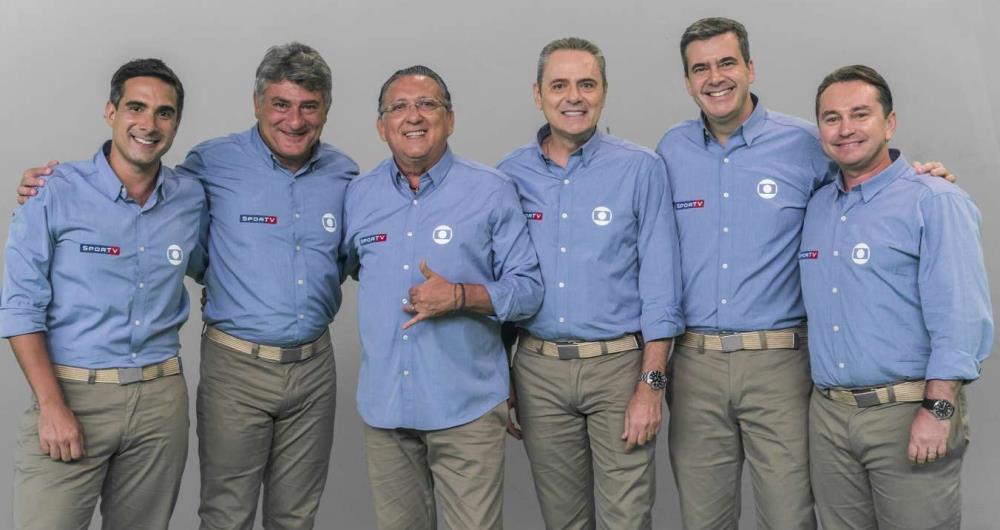 Gustavo Villani, Cléber Machado, Galvão Bueno, Luís Roberto, Rogério Corrêa e Rembrandt Junior narrarão a Copa