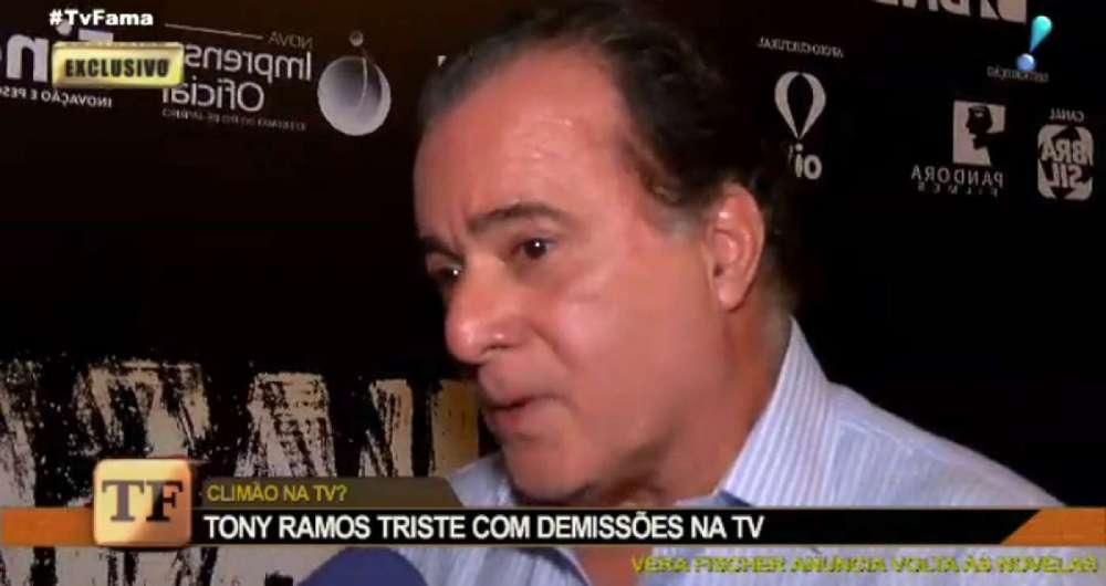Tony Ramos fala sobre as recentes demissões na TV Globo