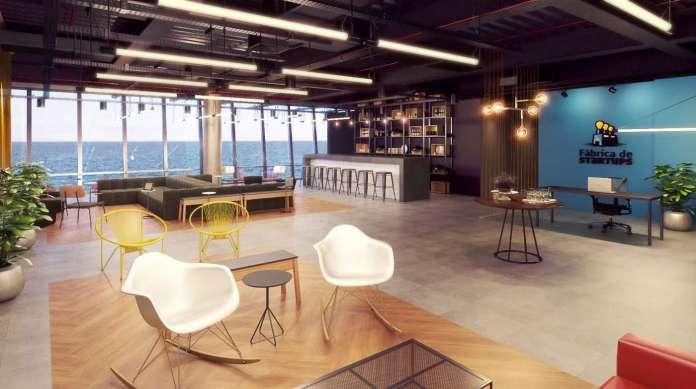 �rea de conviv�ncia da F�brica de Startups tem audit�rio, sala para cursos e ambiente de conviv�ncia