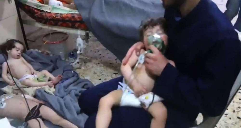 Crianças teriam se intoxicado no alegado ataque de armas químicas