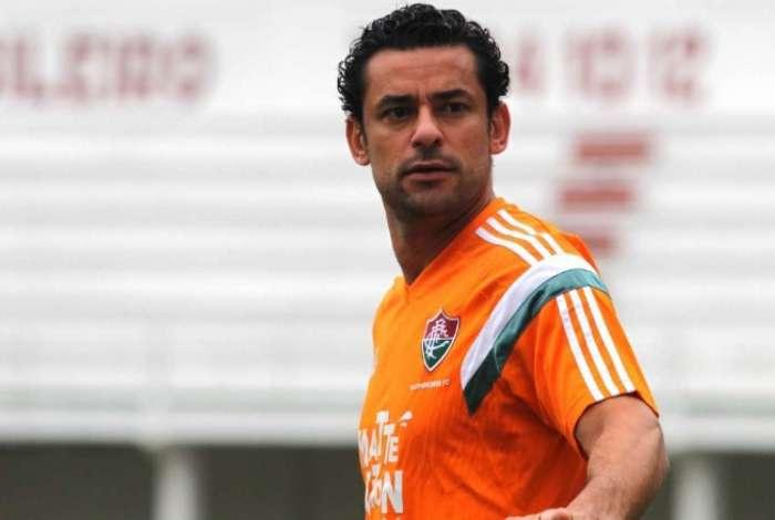 Fred com a camisa do Fluminense