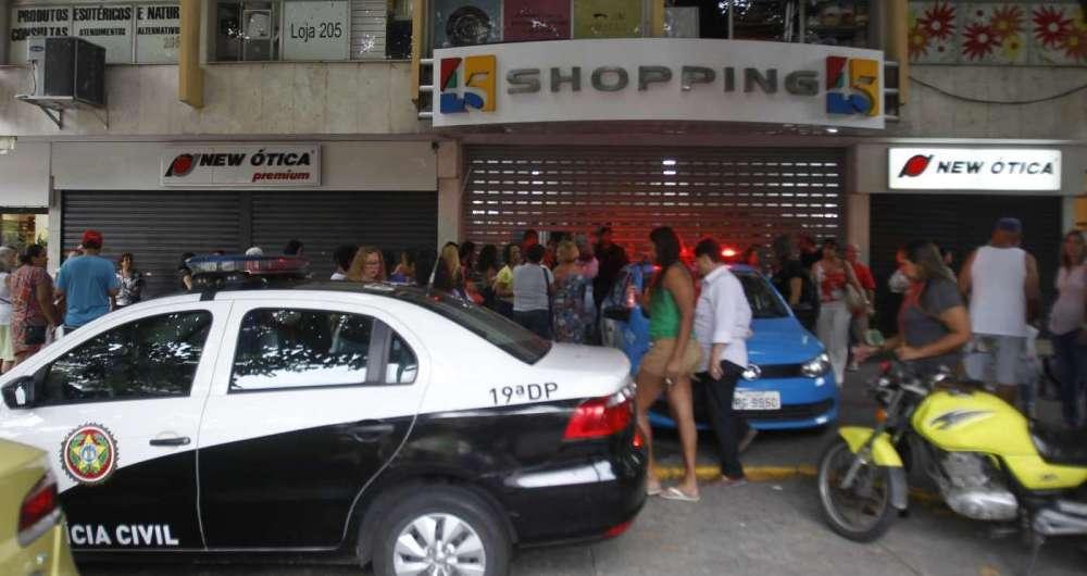 Crime ocorreu no Shopping 45, na Tijuca