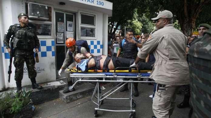 O agressor Jonny Neves dos Santos foi preso por policiais militares