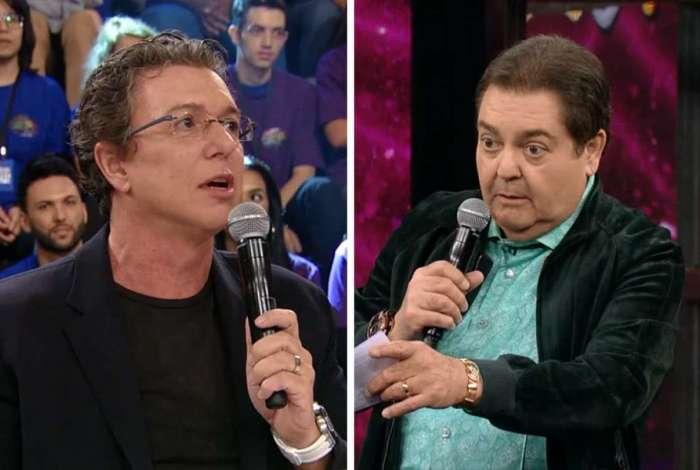 Boninho e Fausto Silva no 'Doming�o'
