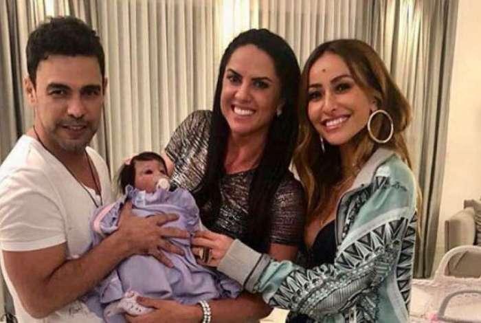 Zez� Di Camargo, Graciele Lacerda e Sabrina Sato