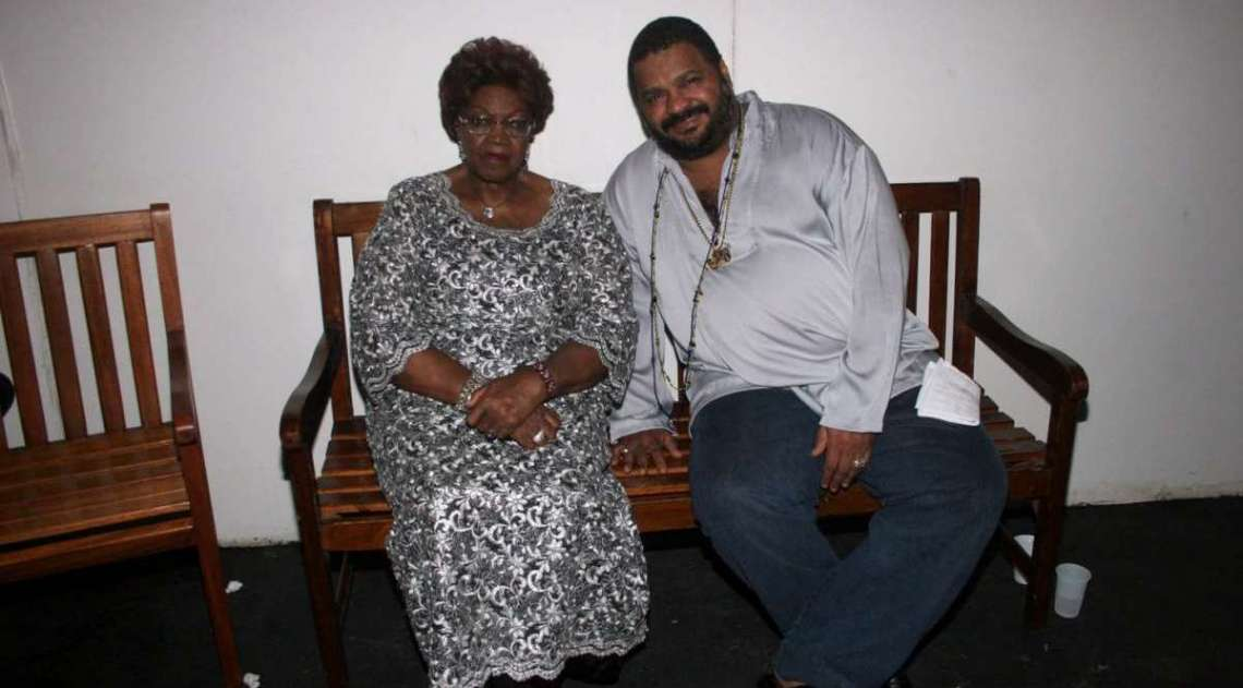 Dona Ivone Lara e Arlindo Cruz na grava��o do CD e DVD 'Samba social clube', na Fundi��o Progresso
