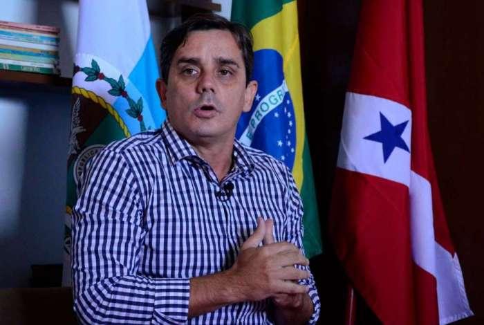 O prefeito Fabiano Horta anunciou o aporte inicial para o FSM durante entrevista coletiva de imprensa