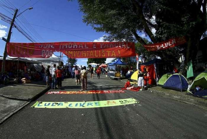 Acampamento Lula Livre, em Curitiba