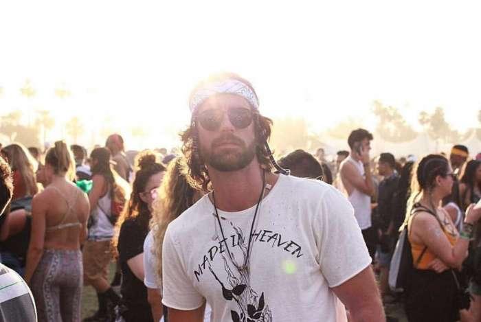 Marcos Pitombo no festival Coachella, na Calif�rnia