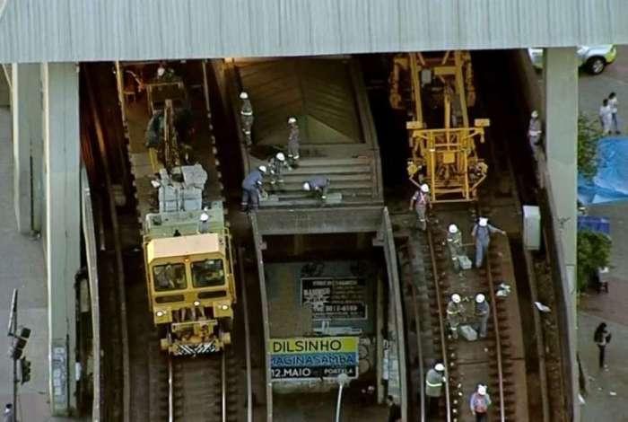 Linha 2 do metr� s� est� funcionando do Iraj� a Botafogo
