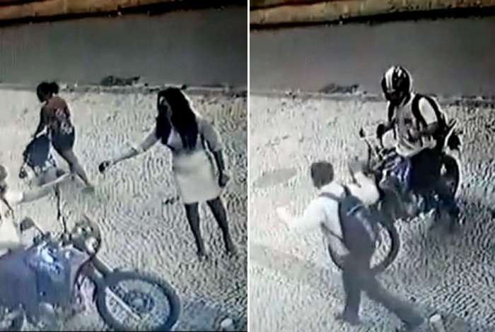 Motociclista rouba pedestres o Humait�