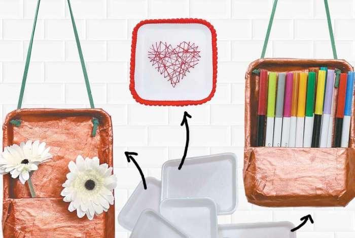 Veja como bandejas de embalagens foram transformadas em objetos utilitários e decorativos