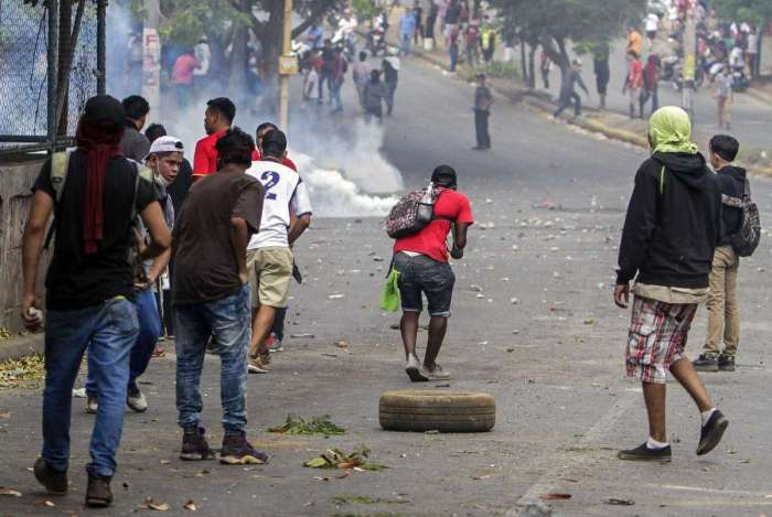 Onda de protestos deixou mortos na Nicar�gua