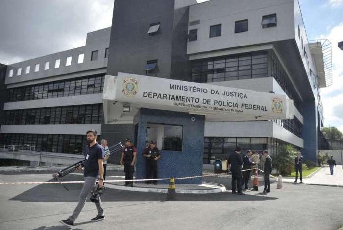 Sede da PF, em Curitiba, onde Lula est� preso, com visitas vetadas