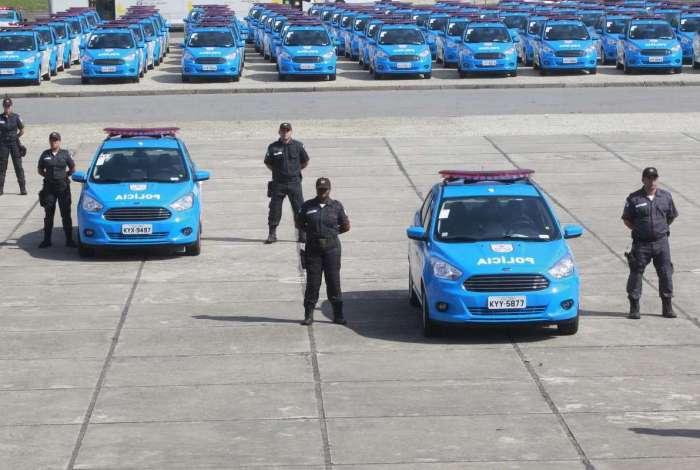 Polícia Militar recebeu ontem o reforço de 262 viaturas na frota para aumentar patrulhamento nas ruas