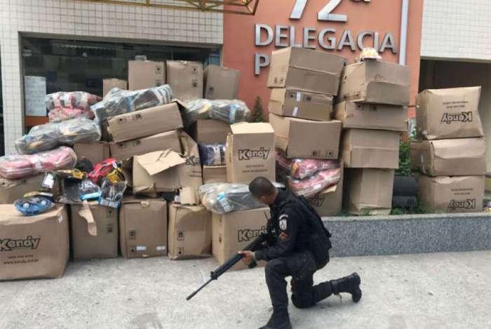 PMs recuperaram carga em São Gonçalo