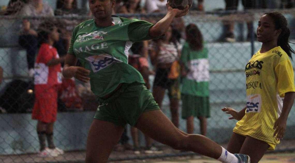 28/04/2018 - Caderno Baixada. Jogos da Baixada. Handbol feminino sub 17. Foto: Fernanda Dias / Ag�ncia O Dia.