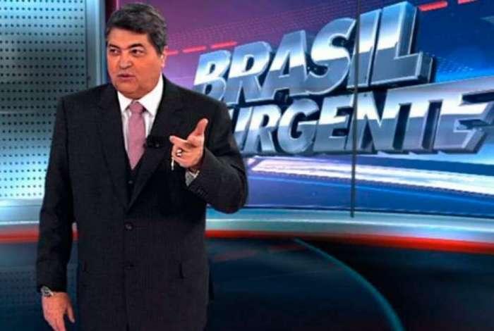 Datena no comando do 'Brasil Urgente'