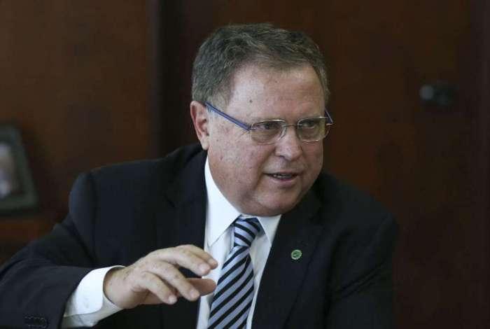 O ministro da Agricultura, Blairo Maggi, durante reunião de negociações entre o Mercosul e a União Européia