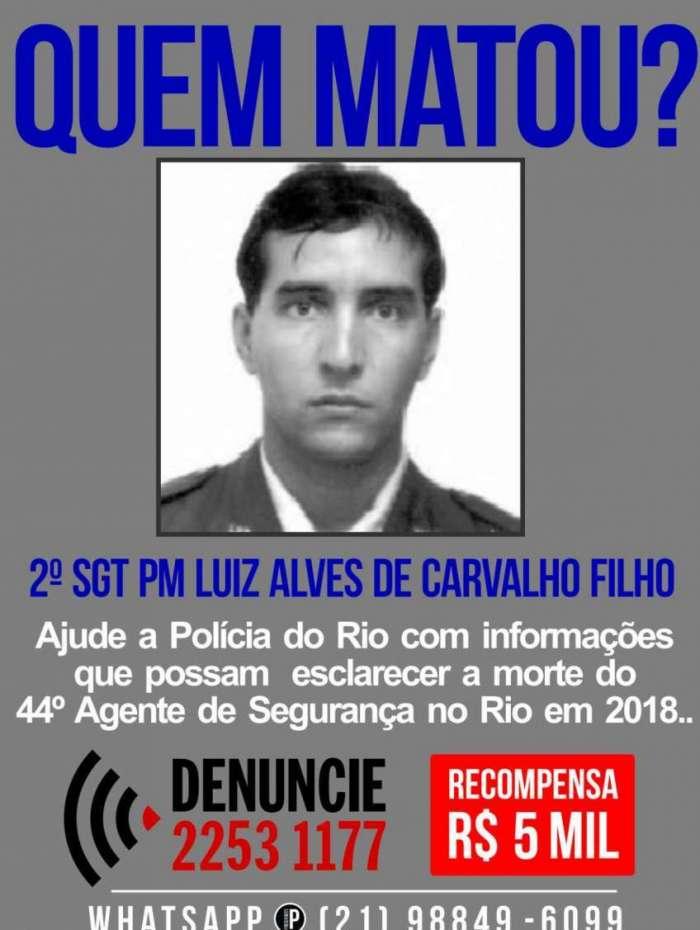 Portal pede informa��es sobre assassinos de policial militar