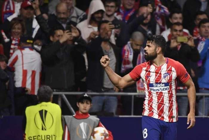 Diego Costa foi decisivo para o Atl�tico de Madrid