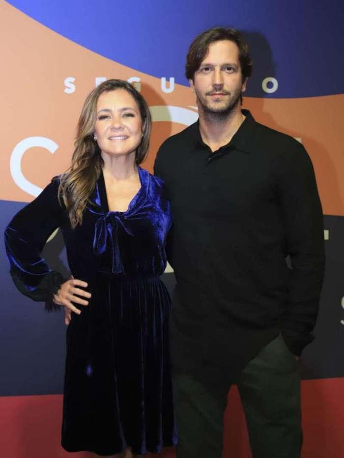 Adriana Esteves com o marido Vladmir Britcha