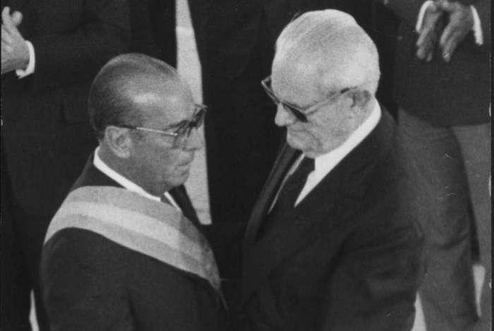 Posse do presidente Jo�o Batista Figueiredo, que sucedeu Ernesto Geisel em 15 de mar�o de 1979 e foi o �ltimo presidente militar do Brasil