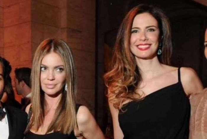 Simone Abdelnur e Luciana Gimenez lado a lado em evento de gala em 2011