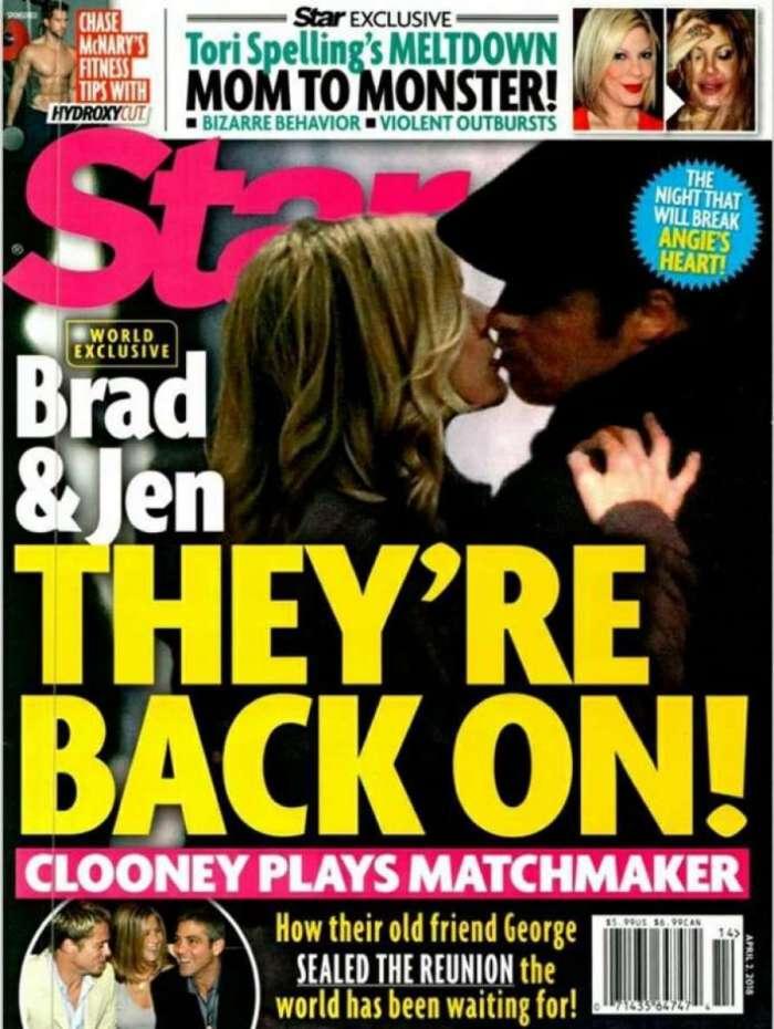 Brad Pitt e Jennifer Aniston podem ter reatado