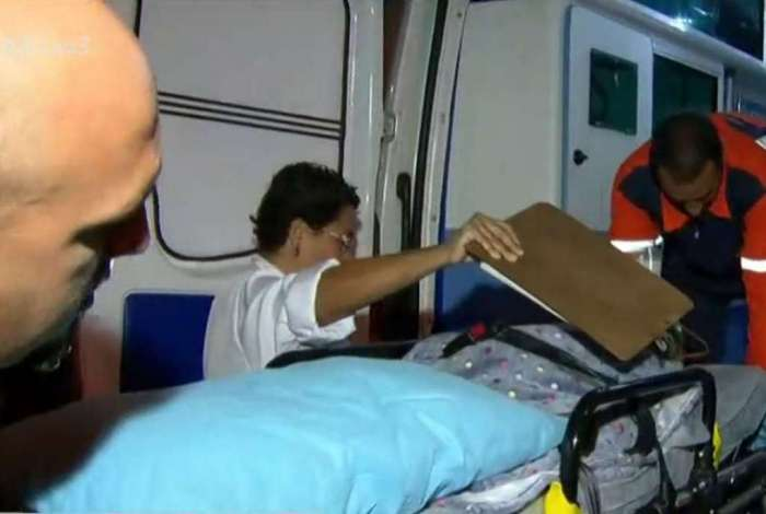 Bebê baleado é transferido de hospital