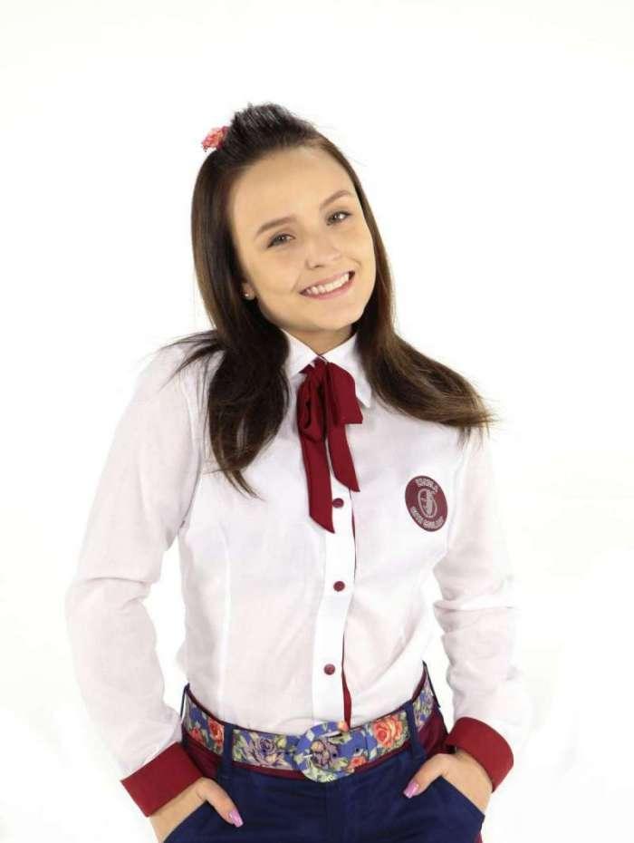 Larissa Manoela caracterizada como Mirela em 'As Aventuras de Poliana'