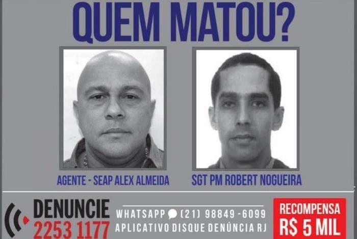 Portal dos Procurados pede informações sobre suspeitos de matar agentes de segurança