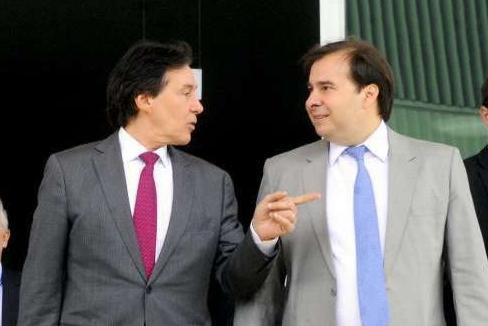 O presidente do Senado Federal, senador Eunício Oliveira (PMDB-CE) e o presidente da Câmara, Rodrigo Maia (DEM-RJ)