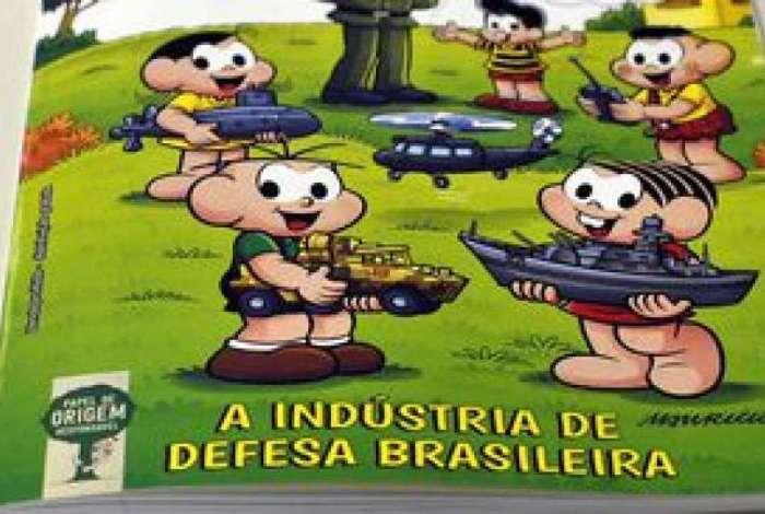 O Minist�rio da Defesa e a Ag�ncia Brasileira de Desenvolvimento Industrial, lan�am o almanaque A Turma da M�nica e a Ind�stria de Defesa