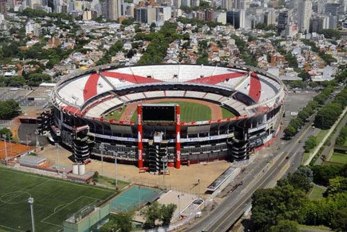 Estádio Monumental, do River Plate, em Buenos Aires, na Argentina
