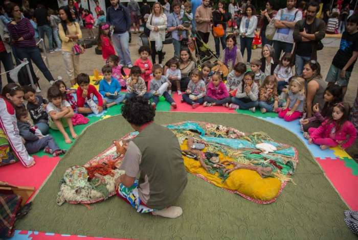 Na Virada Sustent�vel de 2017, crian�as assistiram a pe�as de teatro com temas ligados � natureza