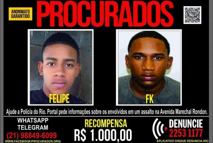 Cartaz do Dique Denúncia para Felipe de Souza Valeriano e Franklin Maia Oliveira André, o FK