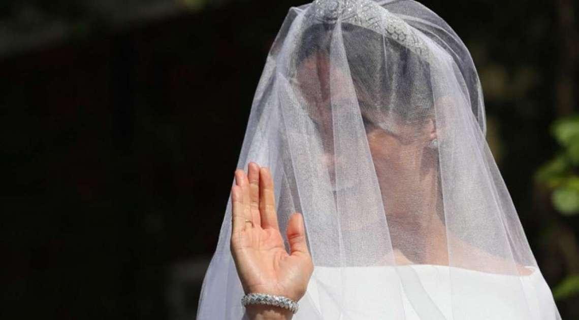 Meghan Markle durante cerim�nia na igreja de S�o Jorge de Windsor