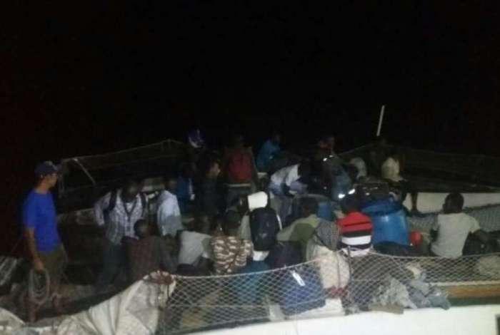 Grupo desembarcou no cais de São José de Ribamar, após operação conjunta com a Marinha e a PF