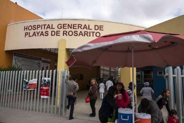 Fachada do Hospital Geral de Rosarito, onde supostamente Thomas Markle, o pai de Meghan Markle, havia sido tratado depois de um ataque card�aco na semana passada