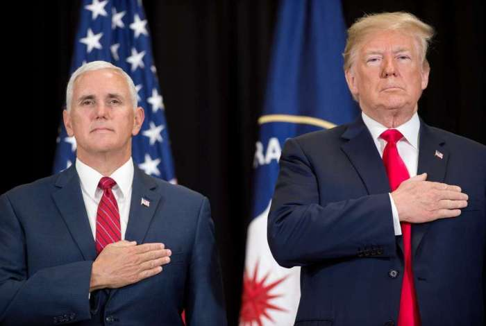O presidente dos EUA, Donald Trump, e o vice-presidente dos EUA, Mike Pence