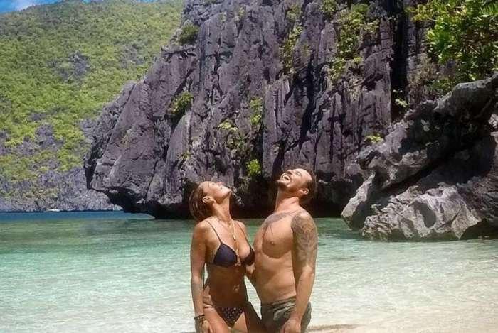 Paulo Vilhena e Amanda Belardi nas Filipinas