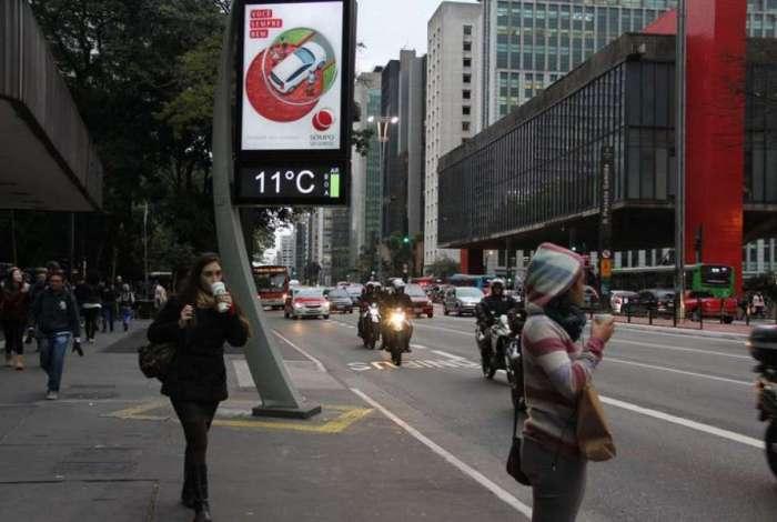 Onda de frio atinge a capital paulistana