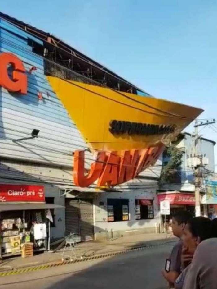 Fachada do supermercado Guanabara