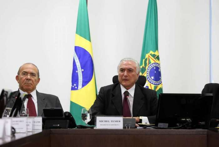 O presidente Michel Temer e o ministro da Casa Civil, Eliseu Padilha
