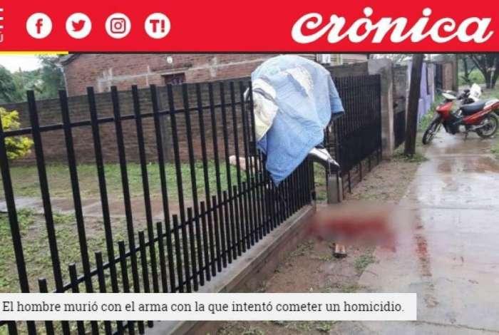 Na Argentina, homem morre após disparar arma enquanto pulava cerca para fugir de crime