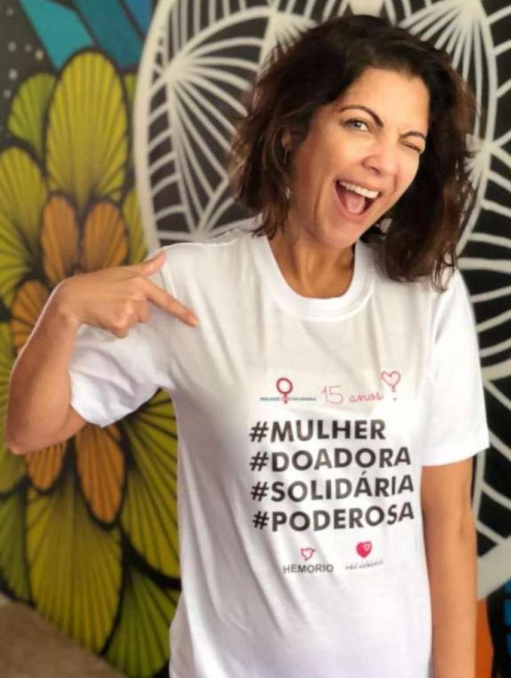 Thalita Rebouças em campanha do Hemorio